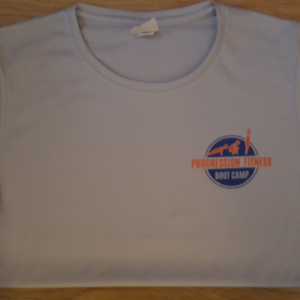 Progression Fitness Bootcamps Club t-shirt front
